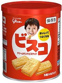 非常食 江崎グリコ ビスコ 保存缶 30枚入 1枚目