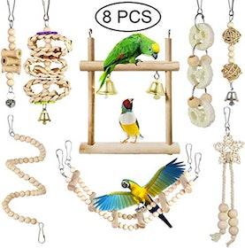 セキセイインコ おもちゃ CAMITER-JP  小鳥のおもちゃ 1枚目