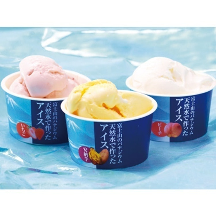富士山のバナジウム天然水 一畑百貨店 富士山バナジウム天然水で作ったアイス 1枚目