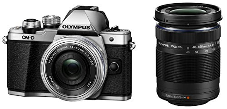 オリンパスミラーレスカメラ オリンパス ミラーレス一眼カメラ OM-D E-M10 Mark II EZダブルズームキット シルバー 本体のみ  1枚目