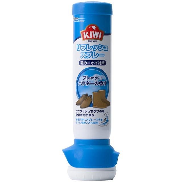 ジョンソン KIWI 靴用消臭スプレー リフレッシュスプレー フレッシュパウダーの香り 1枚目