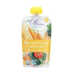 PlumOrganics トウモロコシ、ケール、キャロット&トマトのペースト 1枚目