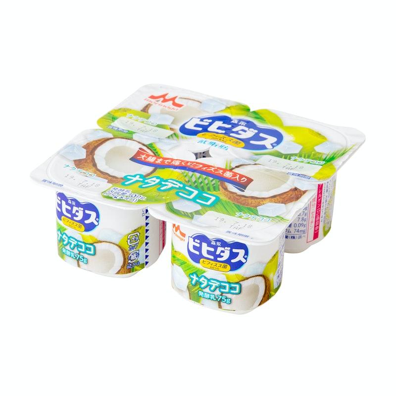 森永乳業 ビヒダス ヨーグルト ナタデココ 4ポット