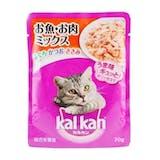 マースジャパン カルカン パウチ 成猫用 1歳から お魚・お肉ミックス まぐろ・かつお・ささみ入り 70g×8袋