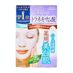 KOSE クリアターン ホワイト マスク トラネキサム酸  1枚目