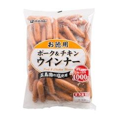 伊藤ハム お徳用 ポーク&チキンウインナー 1000g 1枚目