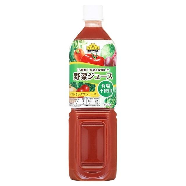 イオントップバリュ 15種類の野菜を使用した野菜ジュース 食塩不使用 トマトミックスジュース 1枚目