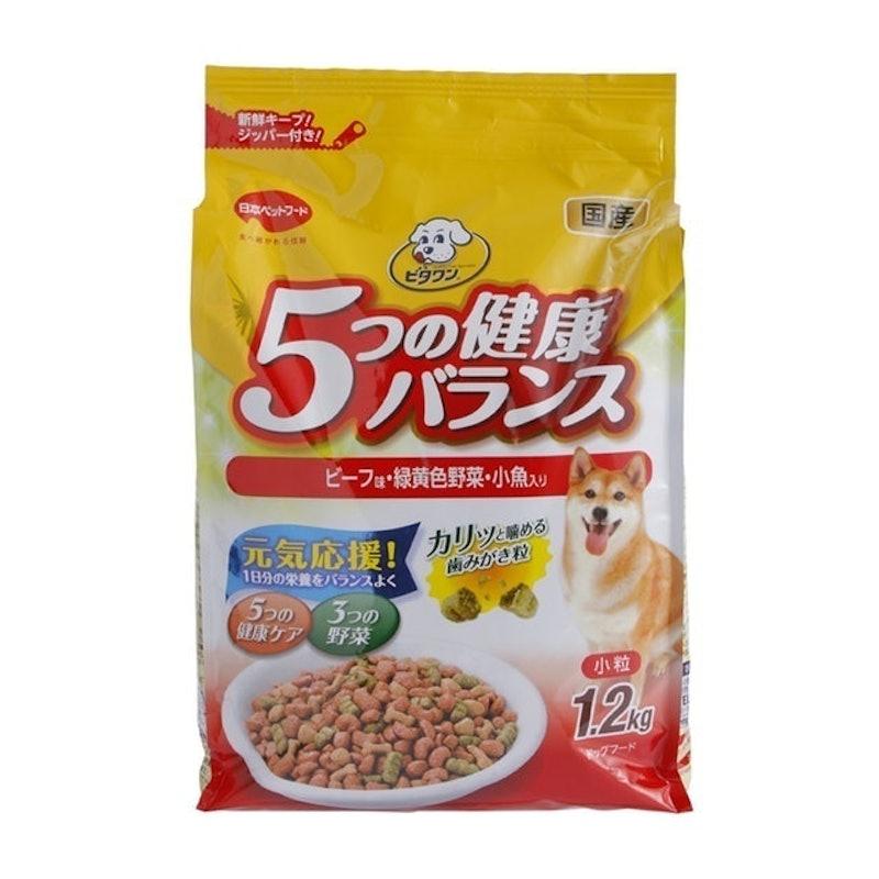日本ペットフード ビタワン 5つの健康バランス ビーフ味・野菜入り 小粒 1.2kg