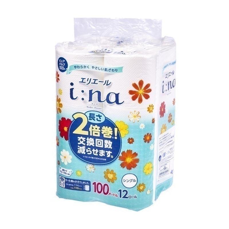 大王製紙 エリエール イーナ 2倍巻き 100mシングル 華やぐフローラルの香り