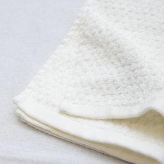 ニトリ 抗菌防臭加工 無撚糸フェイスタオル(BDマロック WH 35×80) 1枚目