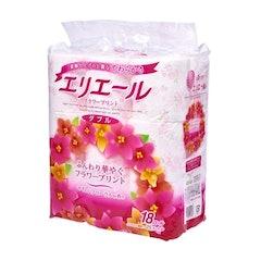 大王製紙 エリエール フラワープリント 25mダブル 優雅な花の香り 1枚目