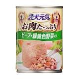 ユニチャーム 愛犬元気 缶 ビーフ・緑黄色野菜入り 375g