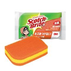 スリーエムジャパン スコッチブライト キッチンスポンジ 抗菌 リーフ型 1枚目