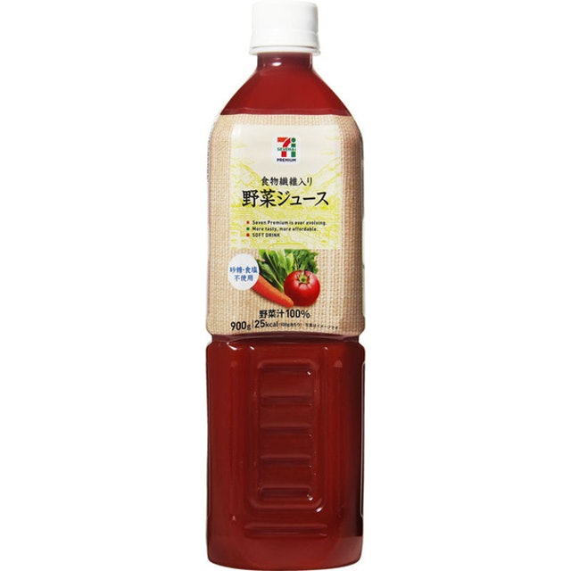 セブンプレミアム 食物繊維入り野菜ジュース 900g 1枚目
