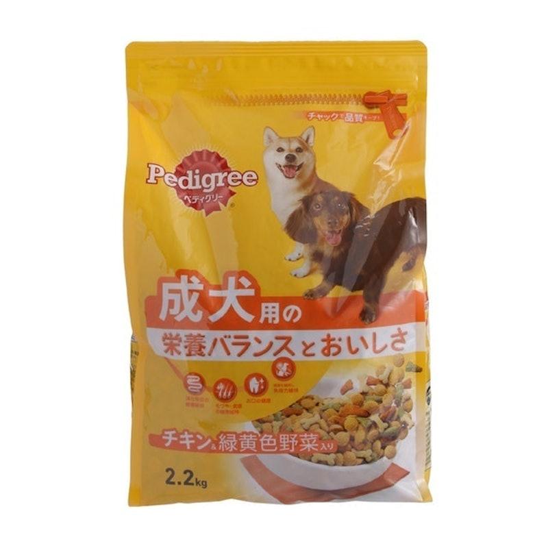 マースジャパンリミテッド ペディグリードライ チキン&緑黄色野菜入り 成犬用 2.2kg