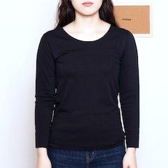 GUNZE インナーシャツ キレイラボ 完全無縫製 裏起毛 綿混 8分袖 1枚目